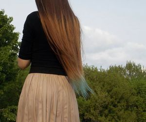blue, long, and skirt image