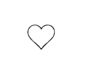 heart, cute black & white, and love image