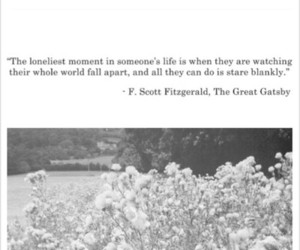 quote, the great gatsby, and lonely image