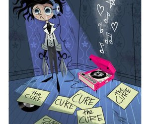 the cure, edward scissorhands, and music image
