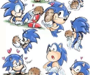hedgehogs and sonic image