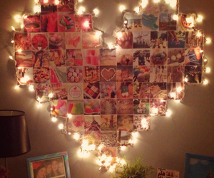 heart, lights, and photos image