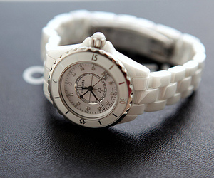 watch, white, and chanel image