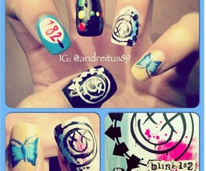 awesome, blink 182, and nail image