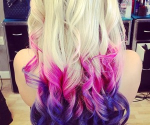 colors hair and cute image