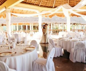 wedding reception, garden decoration, and food image