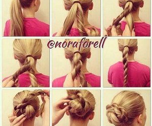 girl, tutorial, and hair image