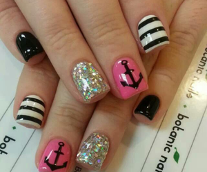 anchor, pink, and silver image