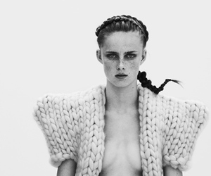 black and white, knit, and chunky knits image