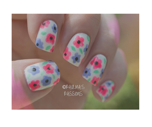 daisys, flowers, and nails image