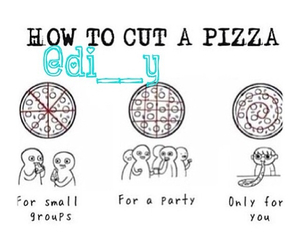 pizza, cut, and me image