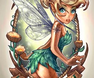 disney, tinkerbell, and tattoo image