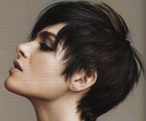 girl, hair, and pixie cut image