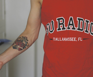 tattoo, band tshirt, and bandshirt image