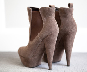 booties, brown, and shoes image