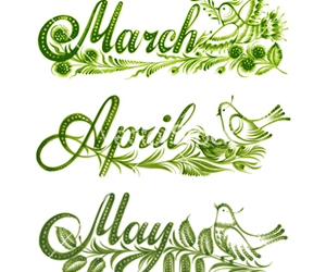 april, season, and march image