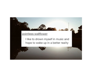 drown, music, and quote image