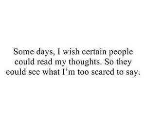 quote, scared, and people image