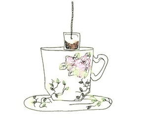 tea, drawing, and art image