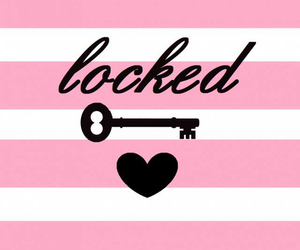 locked, heart, and pink image