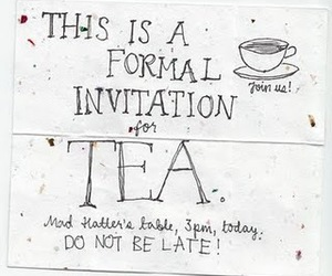 invitation, tea party, and tea image
