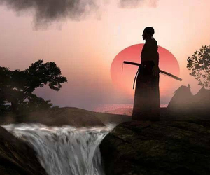samurai, sunset, and power image
