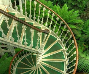 green, stairs, and garden image