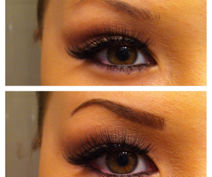 eyebrows, fill, and makeup image