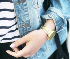 casio, denim, and fashion image