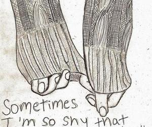 shy, hands, and quotes image