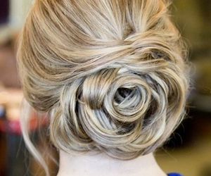 blonde, pretty, and bun image