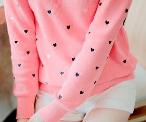 pink love sweater shorts