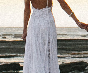 beach, beauty, and dress image