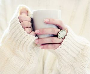 sweater, coffee, and white image