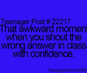 teenager post, awkward, and class image