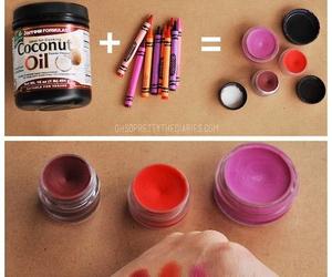 diy, lipstick, and crayon image