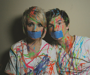 couple, boy, and paint image