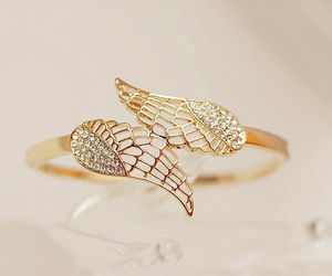 angel, Angel Wings, and jewelry image