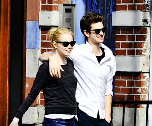 emma stone, peter parker, and andrew garfield image
