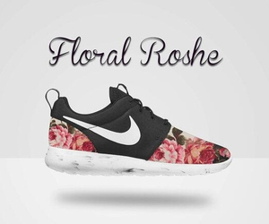 floral, nike, and shoes image
