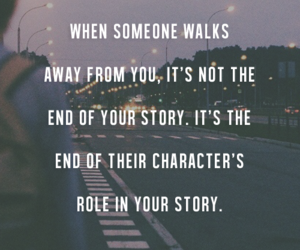 story, character, and end image