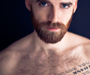 bearded, blonde, and ginger image