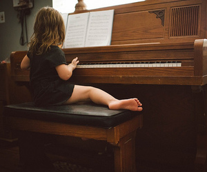 piano, kid, and little girl image
