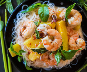 food, healthy, and prawns image