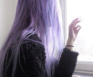 cool, girl, and purple hair image