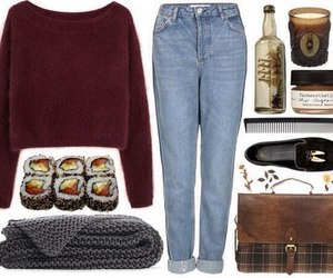 look, outfit, and sweater image