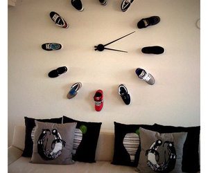 shoes, clock, and cool image