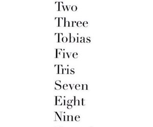 divergent, four, and numbers image