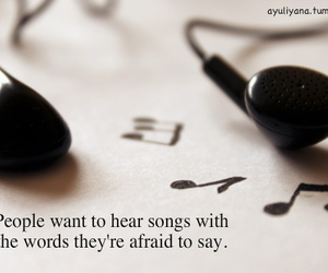 music, quote, and afraid image