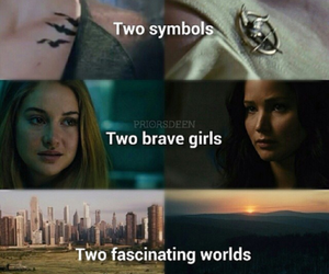 divergent, hunger games, and katniss image